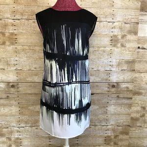 NWT Jessica Simpson multi Rake black dress Sz 4